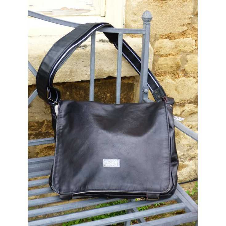 Rags Messenger bag made from leather on Money for Nothing BBC TV