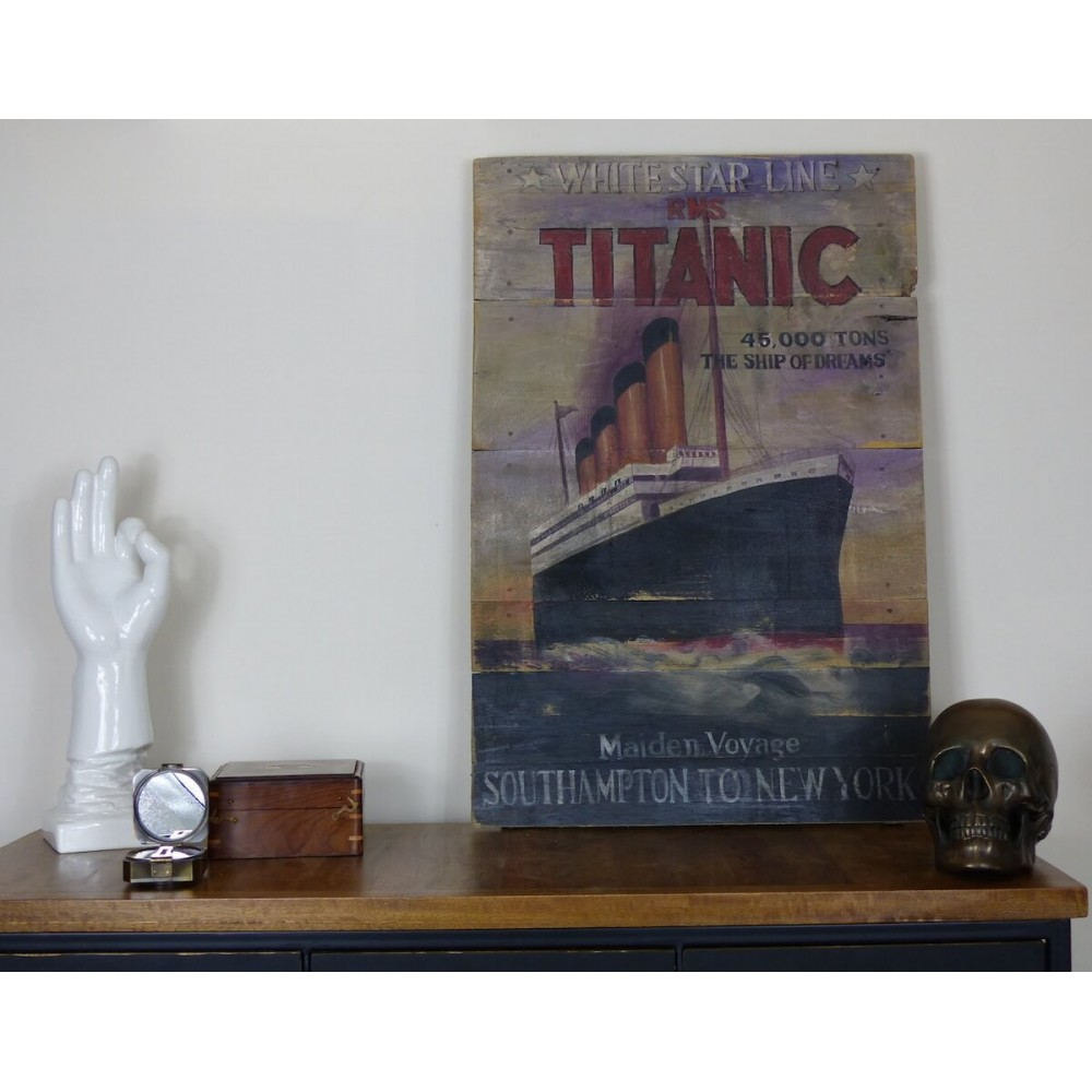 Rms Titanic Painted Boat Signs Gifts Memorabilia