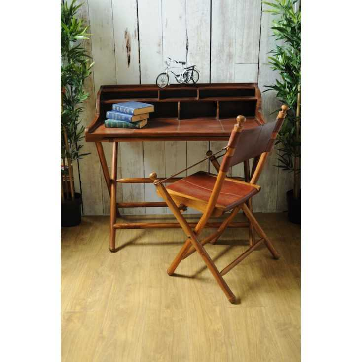 Folding Leather Desk In Safari Style At Smithers Of Stamford