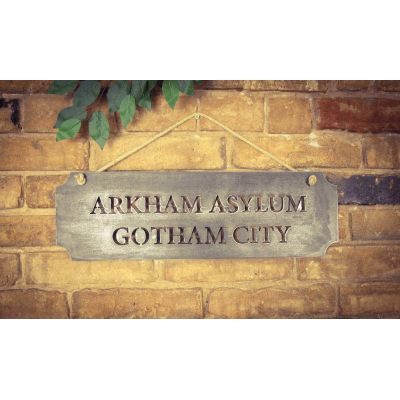 Arkham Asylum Gotham City Sign