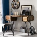 Reclaimed Wood Console Desk Table