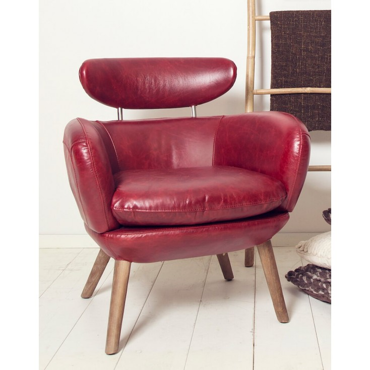 Barbican Red Leather Armchair Smithers Archives Smithers of Stamford £ 992.00 Store UK, US, EU, AE,BE,CA,DK,FR,DE,IE,IT,MT,NL...
