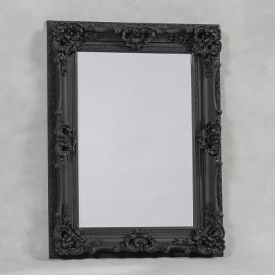 Antique Black Large Regal Mirror
