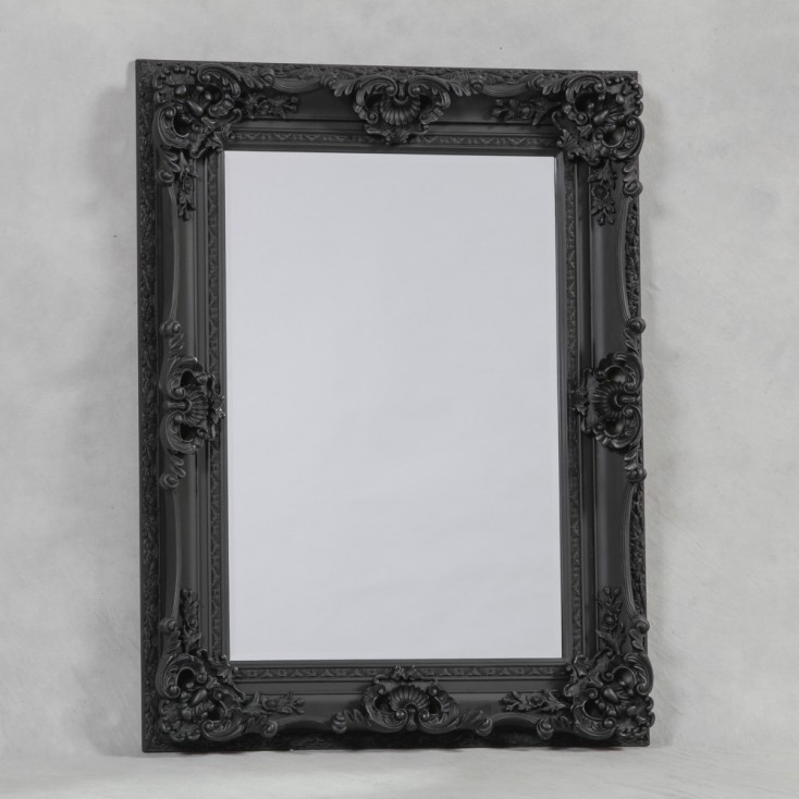 Buy Large Black Ornate Mirror & Reproduction Antique Mirrors