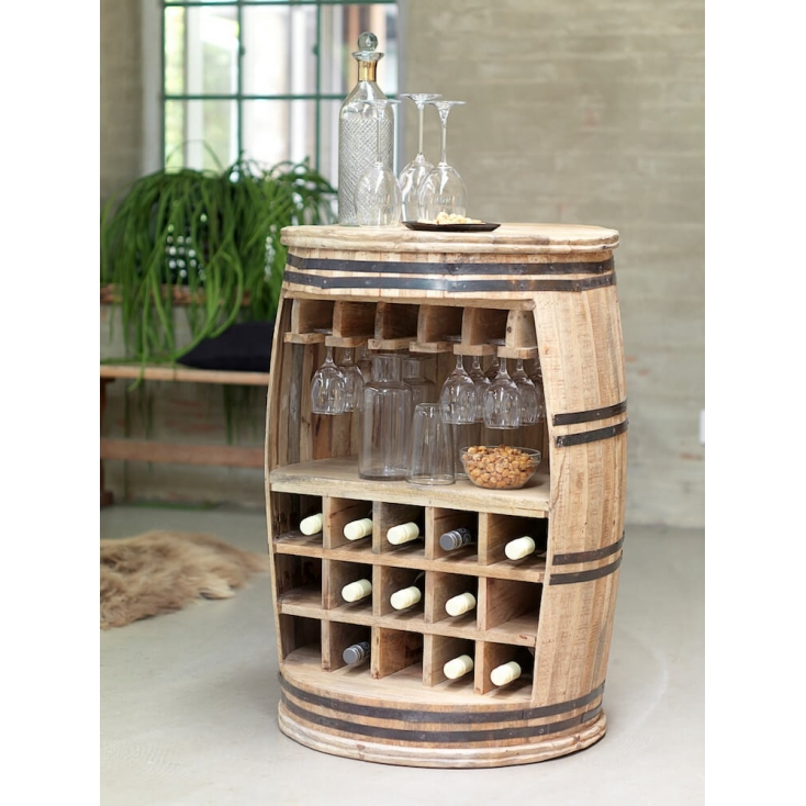Wine Barrel Rack