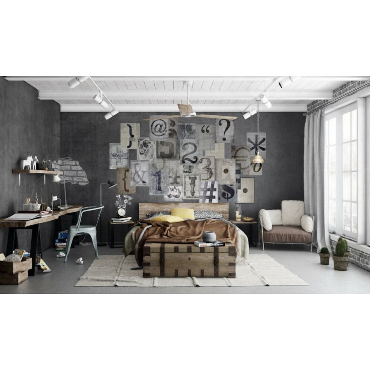 Typography Wallpaper Mural Interior Wallpaper Smithers of Stamford £ 45.00 Store UK, US, EU, AE,BE,CA,DK,FR,DE,IE,IT,MT,NL,NO...