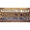 Personalised Road Signs