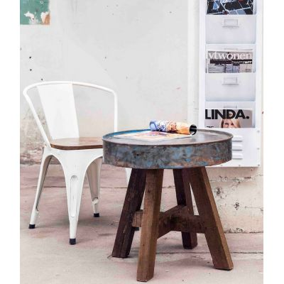 Drum Reclaimed Side Table Upcycled Furniture Smithers of Stamford £ 185.00 Store UK, US, EU