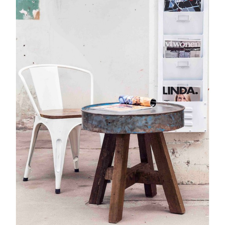 Drum Reclaimed Side Table