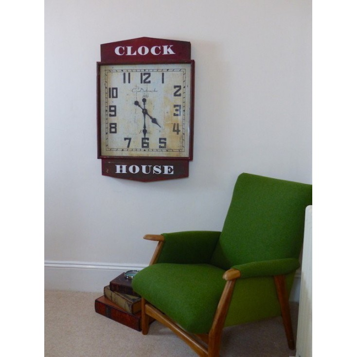 Red Station Clock Vintage Clocks Smithers of Stamford £ 182.00 Store UK, US, EU, AE,BE,CA,DK,FR,DE,IE,IT,MT,NL,NO,ES,SE