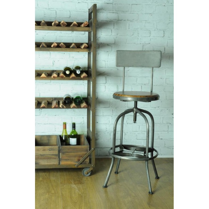 Revolving Industrial Bar Stool