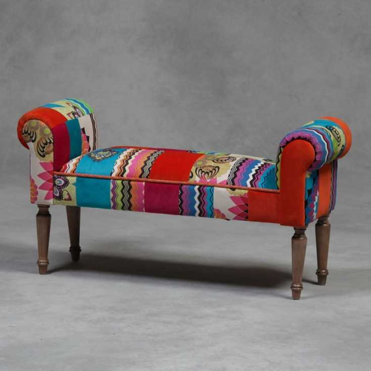 Patchwork Bench Seat Home Smithers of Stamford £ 180.00 Store UK, US, EU, AE,BE,CA,DK,FR,DE,IE,IT,MT,NL,NO,ES,SE