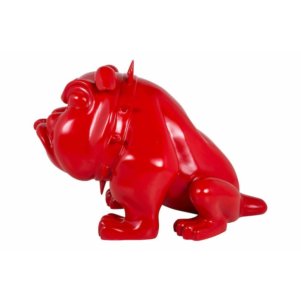 Vintage Bar Cart >> Life Size Bulldog Statue - The Red Devil Dog Ornament