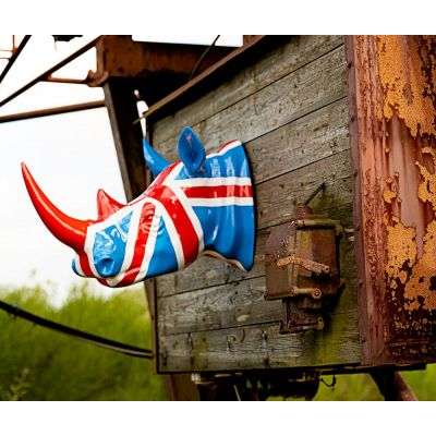 Union Jack Rhino Head