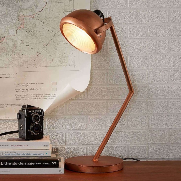 Vintage Copper Table Lamp