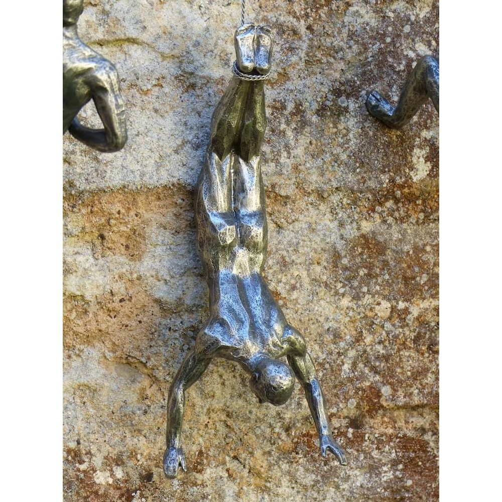 Climbing Men Accent Wall Decor Sculpture