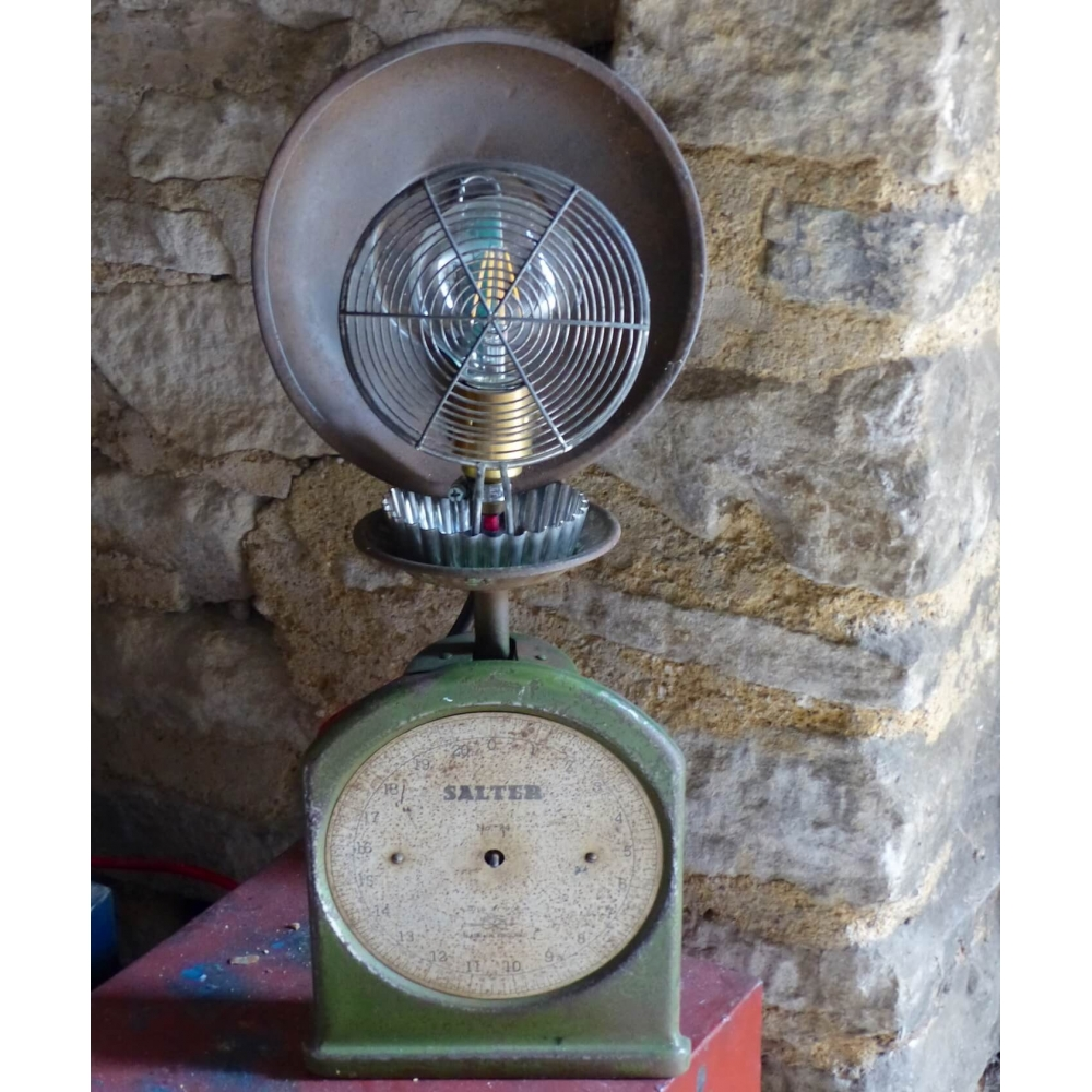 Scales Table Lamp Made On Money For Nothing By Sarah Moore