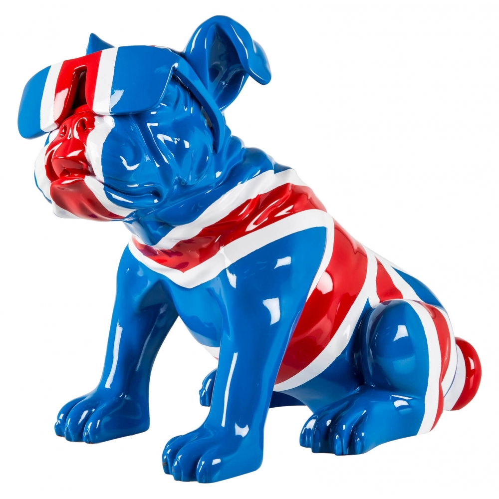 Union Jack Red White Blue Bulldog Ornaments Crazy