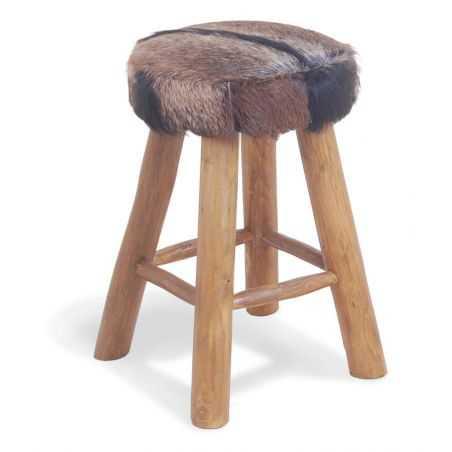 Mandela Goatskin Bar Stool Retro Furniture Smithers of Stamford £ 173.00 Store UK, US, EU, AE,BE,CA,DK,FR,DE,IE,IT,MT,NL,NO,E...