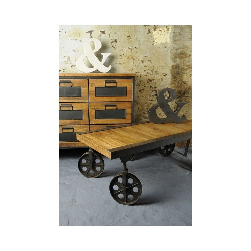 Trolley Coffee Table.Vintage Helsing Industrial Coffee Table