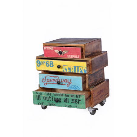 Speedway Stacked Bedside Cabinet Smithers Archives Smithers of Stamford £ 455.00 Store UK, US, EU, AE,BE,CA,DK,FR,DE,IE,IT,MT...