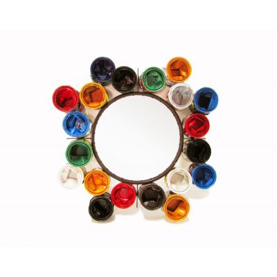 Recycled Paint Pot Mirrors