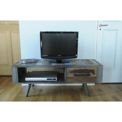 Reclaimed Wood TV Unit Oil Drum Furniture Smithers of Stamford £ 749.00 Store UK, US, EU
