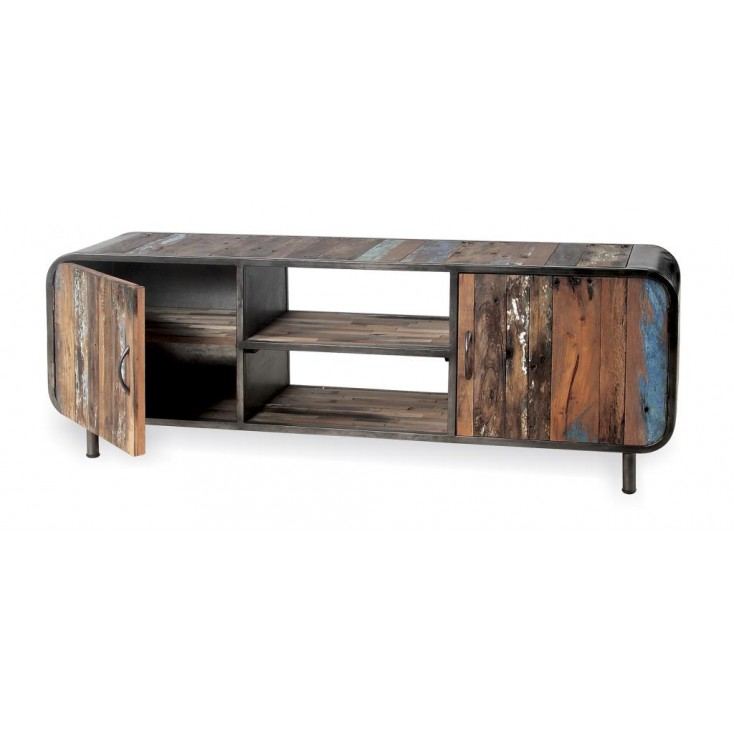 Reclaimed Drum TV Unit Reclaimed Wood Furniture Smithers of Stamford £ 890.00 Store UK, US, EU, AE,BE,CA,DK,FR,DE,IE,IT,MT,NL...