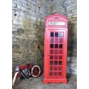 British Red Phone Box Cabinet