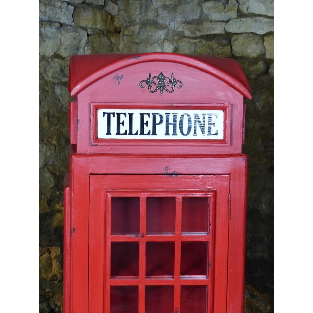 Vintage Large Life Size Replica Red Telephone Bookcase