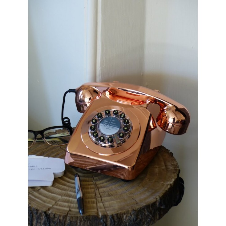 Retro Copper Telephone Retro Telephones £ 64.00 Store UK, US, EU, AE,BE,CA,DK,FR,DE,IE,IT,MT,NL,NO,ES,SE
