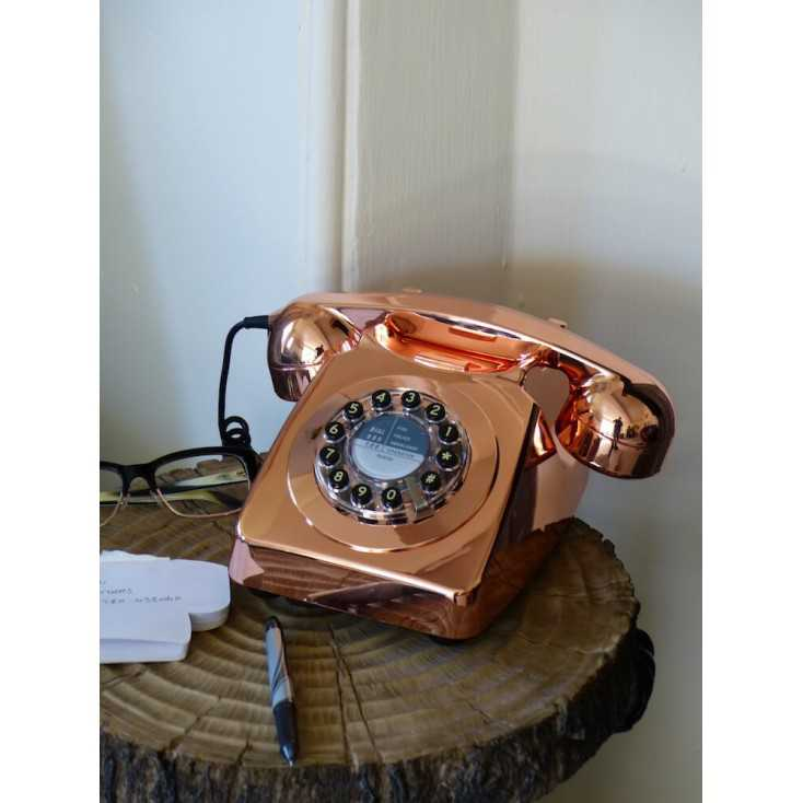 Vintage Old Fashioned Retro Copper Home Telephone Handsets