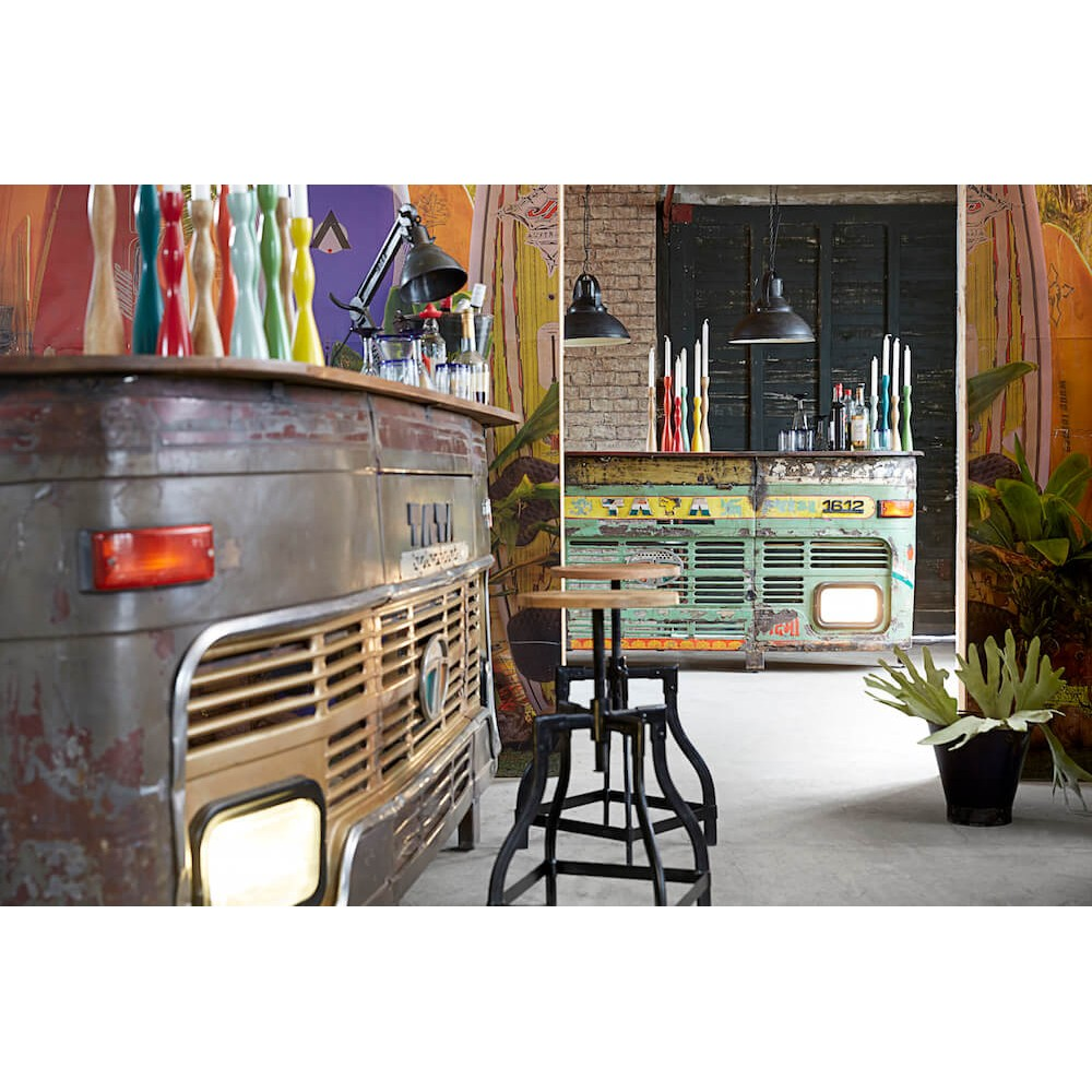 Truck Home Bar Made From Recycled Materials