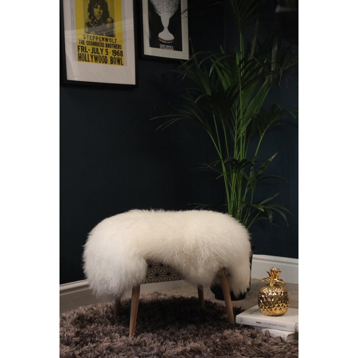 Cocktail Sheepskin Footstool
