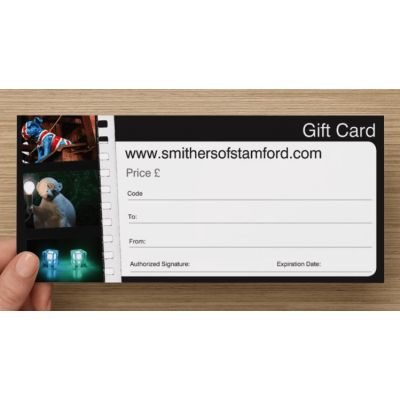 Gift Voucher Card Unique Gifts Smithers of Stamford £ 5.00 Store UK, US, EU, AE,BE,CA,DK,FR,DE,IE,IT,MT,NL,NO,ES,SE
