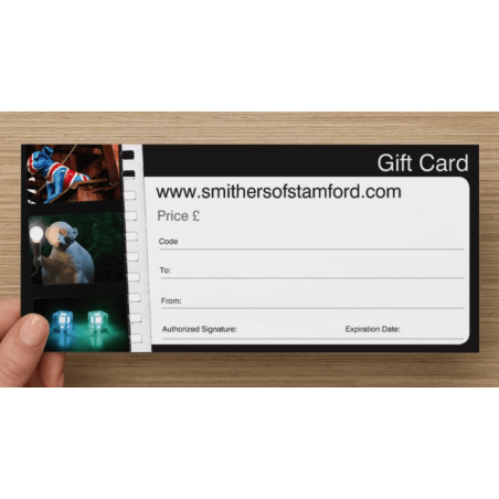 Gift Voucher Card Retro Gifts Smithers of Stamford £ 5.00 Store UK, US, EU, AE,BE,CA,DK,FR,DE,IE,IT,MT,NL,NO,ES,SE