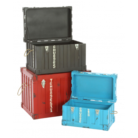 Colourful Container Storage Trunk Industrial Furniture Smithers of Stamford £ 590.00 Store UK, US, EU, AE,BE,CA,DK,FR,DE,IE,I...