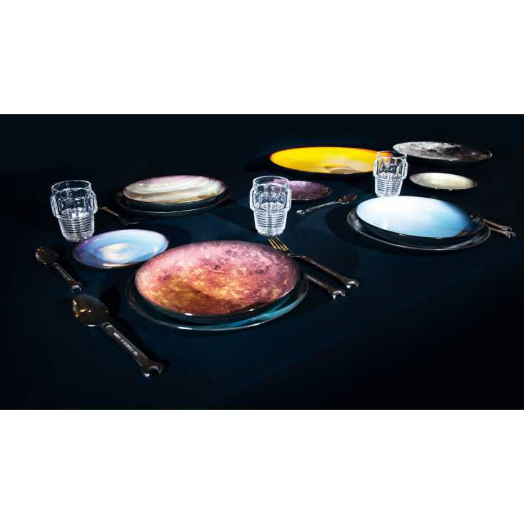 Cosmic dining space plates living with Diesel living with Selleti