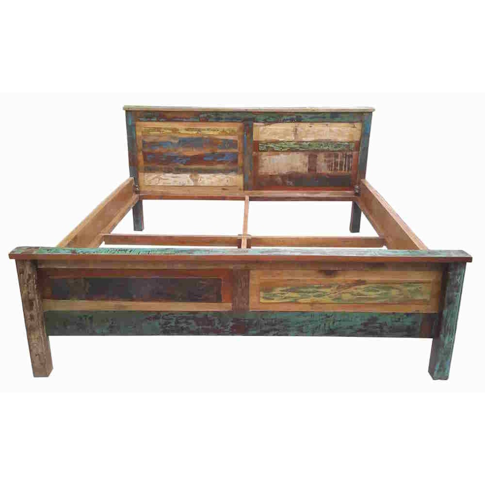 Reclaimed Wood Super King Bed Recycled Wooden Rustic