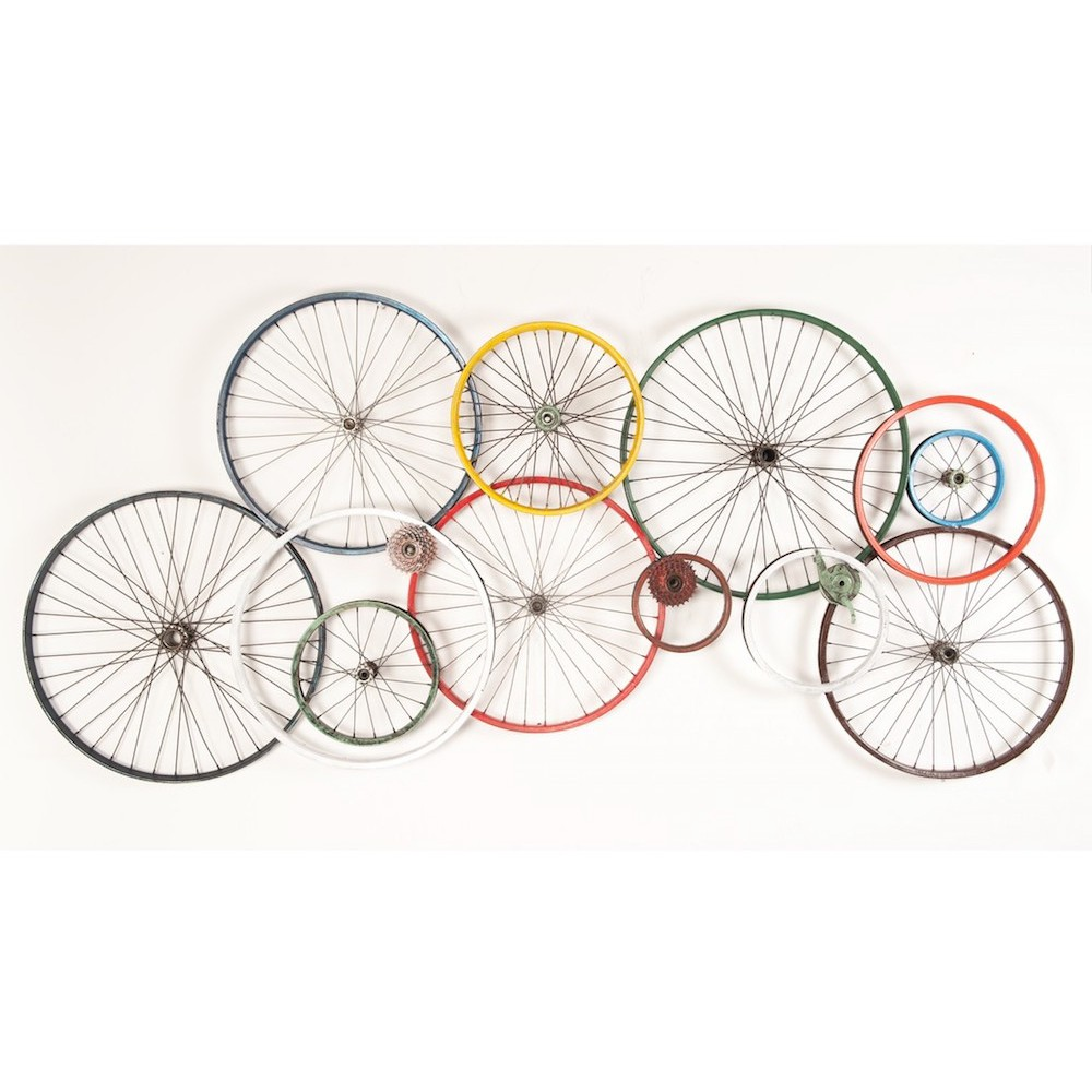 Bicycle Wall Art Wheels Recycled On Walls Urban
