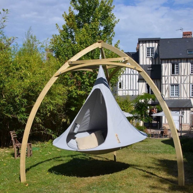 Cacoon Double Tent Outdoor Garden Hanging Swing Chair Tripod