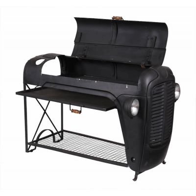 Outdoor BBQ Grill Converted From Massey Ferguson Tractor Hood