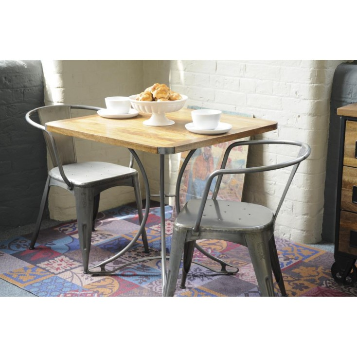 Small Square Industrial Dining Table