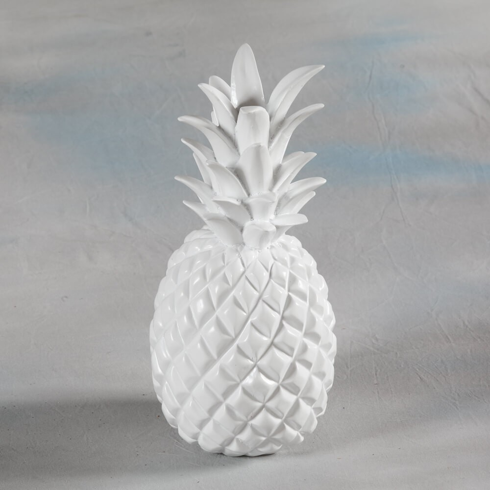 Pineapple Ornaments Yellow Orange White Copper