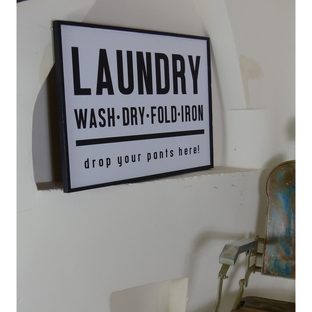 Vintage Laundry Signs For The Room