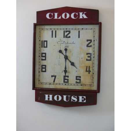 Red Station Clock Smithers Archives Smithers of Stamford £ 182.00 Store UK, US, EU, AE,BE,CA,DK,FR,DE,IE,IT,MT,NL,NO,ES,SE