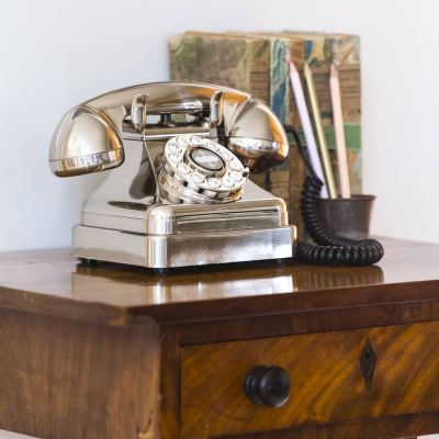 Silver Lobby Phone Retro Telephones Smithers of Stamford £ 65.00 Store UK, US, EU, AE,BE,CA,DK,FR,DE,IE,IT,MT,NL,NO,ES,SE