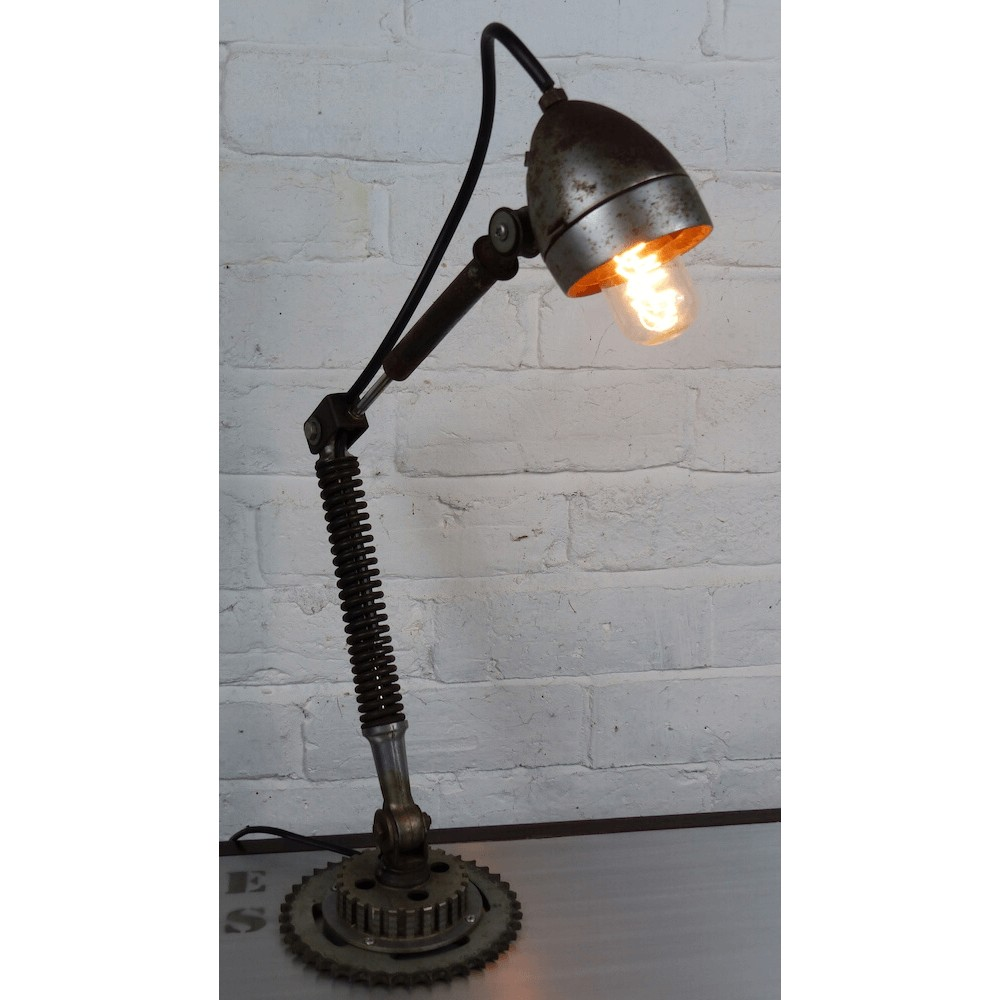 Upcycled Bike Desk Table Lamp   Urban   Industrial