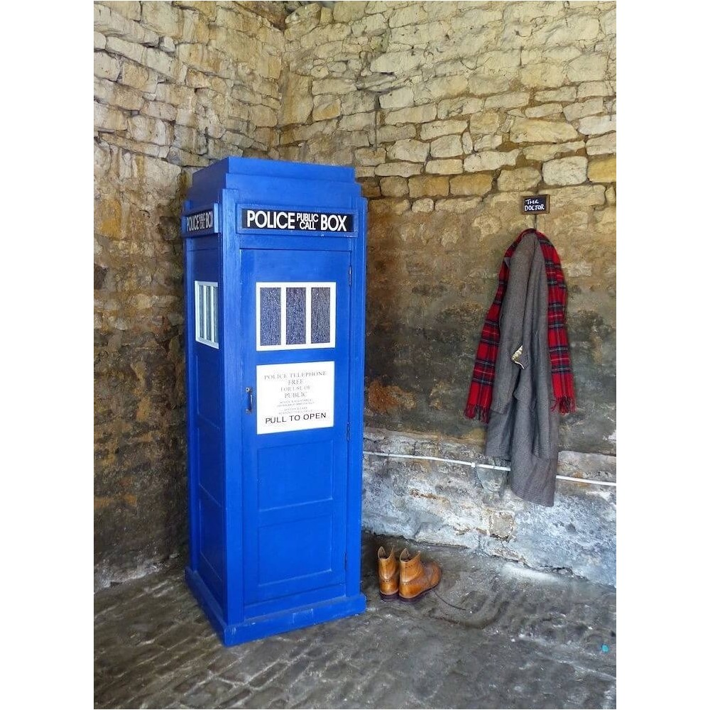 Tall Police Public Call Box Dr Who Large Blue Tardis Cabinet