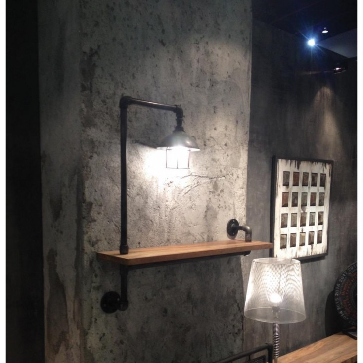 Industrial Wall Light Rack